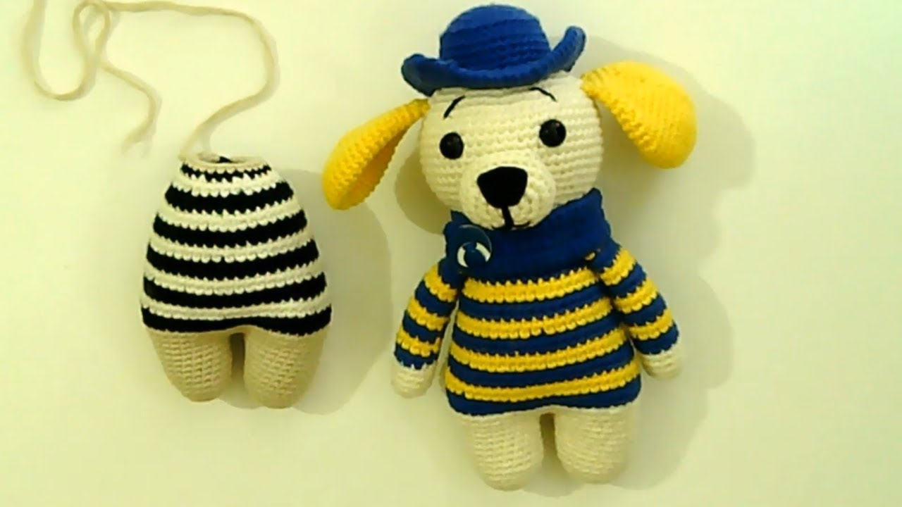 Amigurumi şapkalı köpek yapımı Amigurumi şapkalı köpek vücut yapımı -04