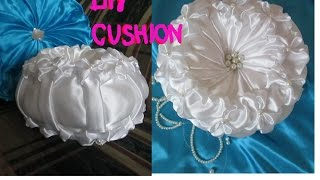 Repeat youtube video DIY Round cushion/small wedding cushion/Canadian smocking