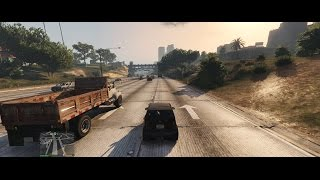 GTA V PC - 21:9 Gameplay [Cruising Around Town] 60fps