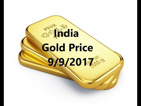 Indian  Gold Price today  9/9/2017