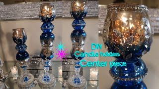 Dollar Tree DIY Candle holders |center piece |home decor