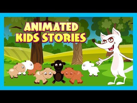 THE WOLF AND SEVEN LITTLE GOATS - ANIMATED STORIES    KIDS HUT STORYTELLING - TIA AND TOFU STORIES