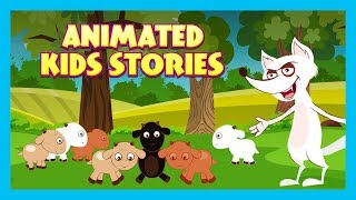 THE WOLF AND SEVEN LITTLE GOATS - ANIMATED STORIES || KIDS HUT STORYTELLING - TIA AND TOFU STORIES