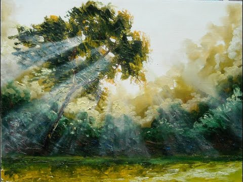 "Oil painting with Svetlana Kanyo ""Sun Light"""