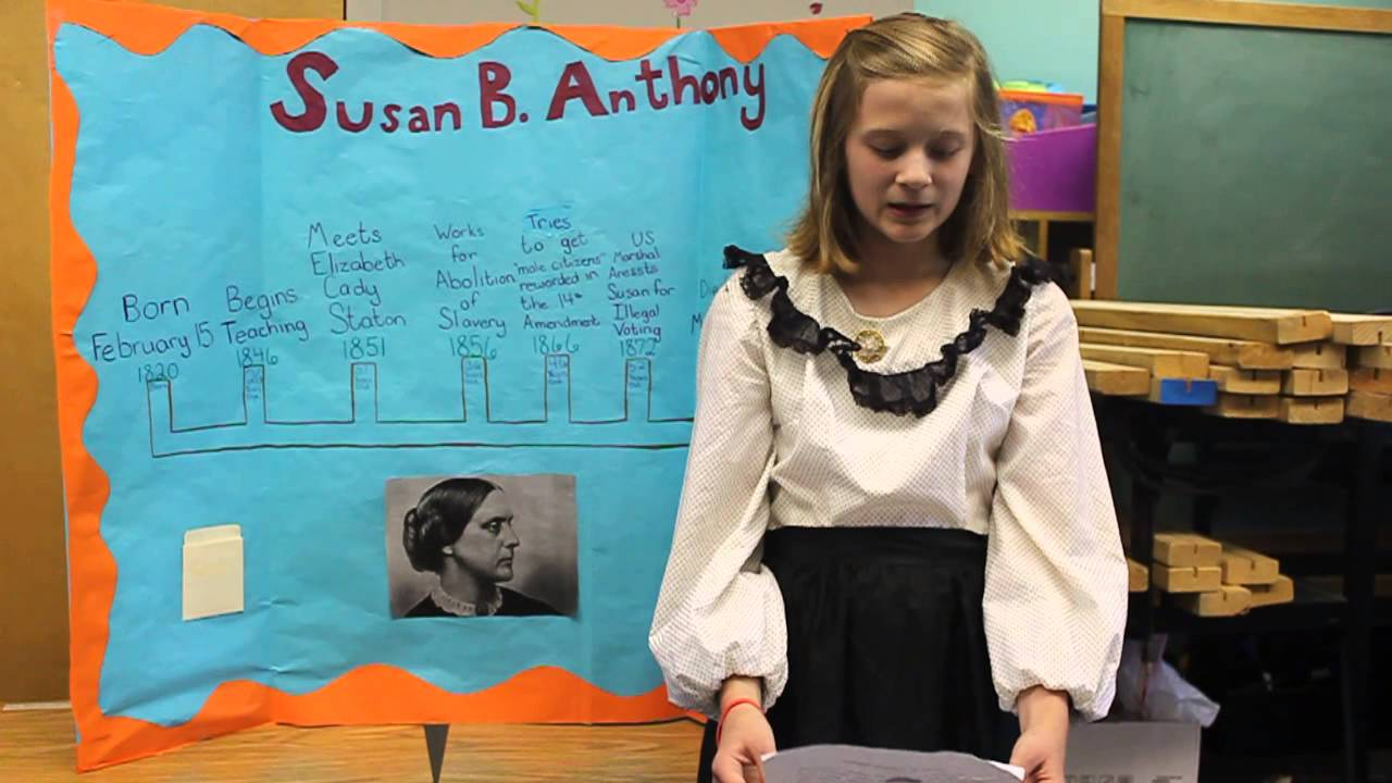 susan b. anthony by a 5th-grader - youtube