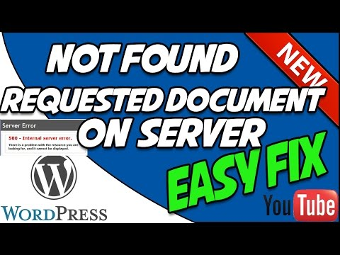 WordPress error not found the requested url was not found on this server