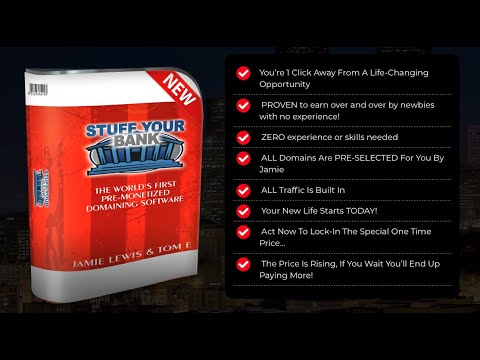 Stuff Your Bank Review | The World's First Pre  Monetized Domaining Software | Bonuses thumbnail