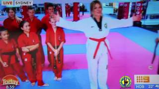 Australian Martial Arts on the Today Show- Host Natalia Cooper earns her Black Belt