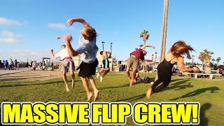 CRAZIEST FLIPPERS FLIPPING AT MISSION BEACH!