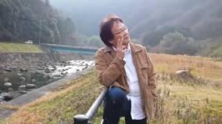 ダムにて友人が決めポーズ!!