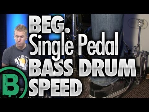 Single Pedal Bass Drum Speed - Beginner Drum Lessons