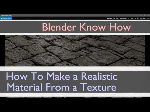 How to make a realistic material from a texture (mapping) in blender 2.79