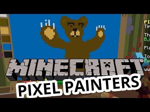 Minecraft | Björnar & Bilar | Pixel Painters Minigame på Svenska med figgehn & Whippit