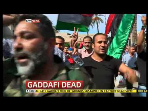 Gaddafi Dead   Sky 5pm