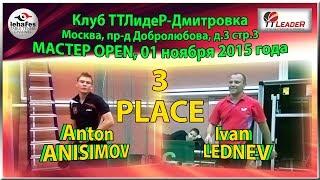 3 PLACE Ivan LEDNEV - Anton ANISIMOV TTLideR Table Tennis