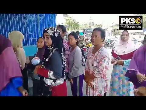 Diserbu Warga, Bazaar PKS di Kawasan Perbatasan RI-PNG (Video)PKS, papua