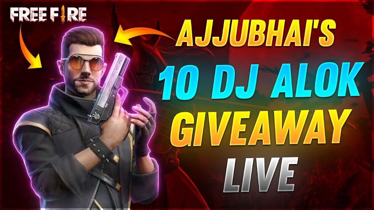LIVE 10 DJ ALOK & 1000 💎DIAMONDS GIVEAWAY