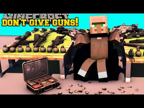 Minecraft: DON'T GIVE GUNS TO VILLAGERS! - MASTER OF TIME - Custom Map [1] fragman