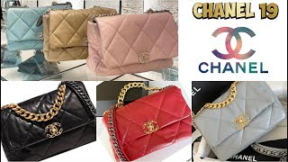 Chanel 19 Bag Gorgeous Shopping 🛍 Paris All Colors Chanel bag 19 spring summer collection 2020