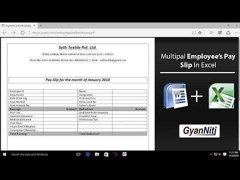 How to make Multiple payment slip in One Click Multi Pay Slip - payment slip sample