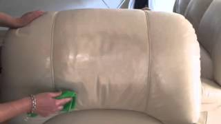 Leather Lounge Chair - No more Dirt with Magic Glass Cloth
