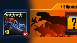 UNBELIEVABLE SPINOSAURUS VICTORY 9 OPPONENTS + ARENA BOOST BATTLE || Jurassic World The Game