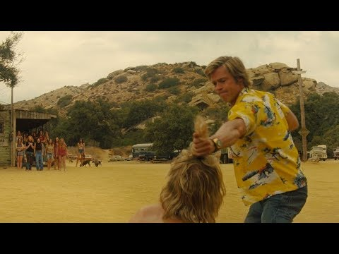 Cliff Booth punched a Hippie at Spahn Ranch Scene 1080p  - Once Upon A Time In Hollywood (2019)
