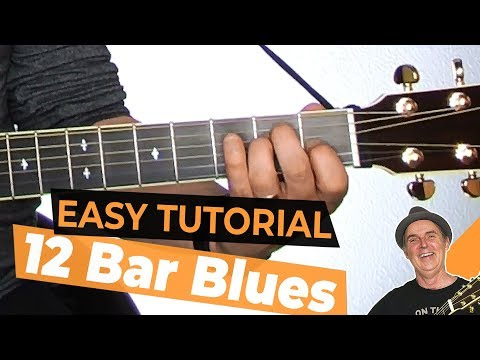 Easy Tutorial 12 Bar Blues in E Lesson 13