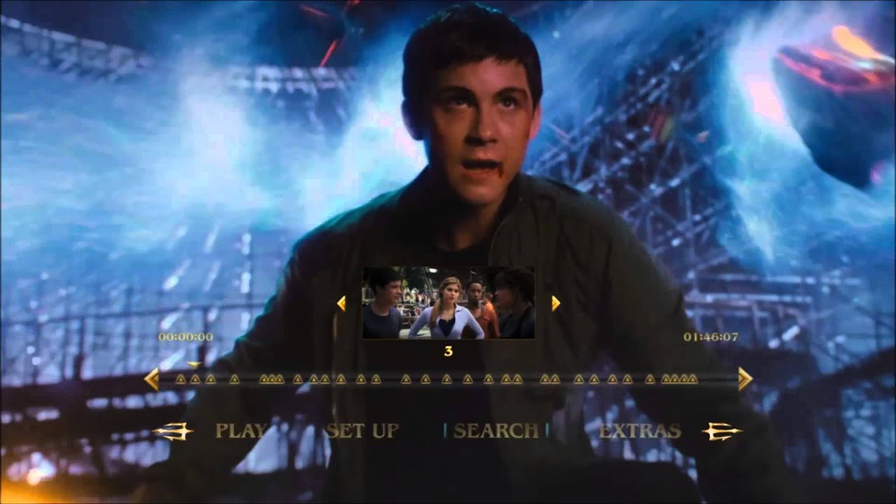 Percy Jackson Sea Of Monsters 2013 Blu Ray Menu Preview Youtube