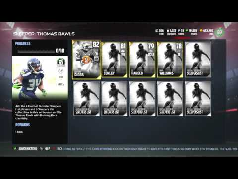 Madden 17 Ultimate Team :: NEW Football Outsiders Thomas Rawls! :: Madden 17 Ultimate Team