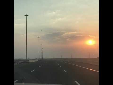 Sunset - on the way to Dhukan Qatar