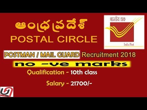 Andhra Pradesh postal recruitment 2018 details in telugu
