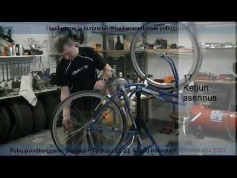 polkupyörän täyshuolto