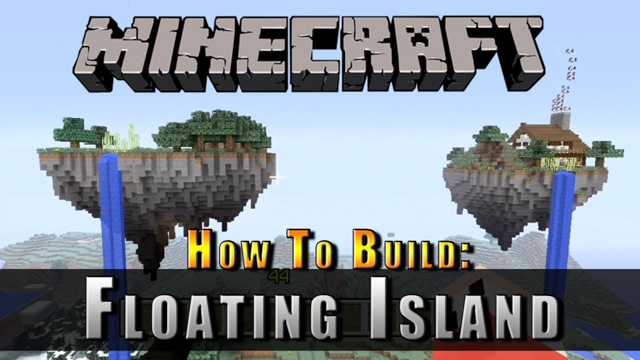 Minecraft how to build a floating island youtube for How to build a floating house