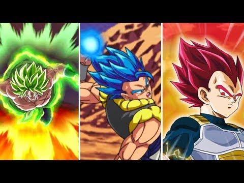 BEST SUPER ATTACKS YET! 🔥 Gogeta Blue, Full Power Broly, SSG Vegeta & More   DBZ Dokkan Battle