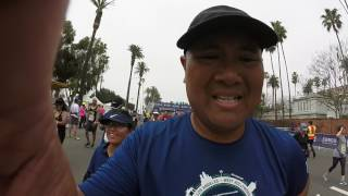 2017 Los Angeles Marathon Finish Line - The Best Marathon Ever... ALOHA !!!
