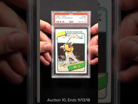 1980 Topps Rickey Henderson Rookie Rc 482 Psa 10 Gem Mint Pwcc