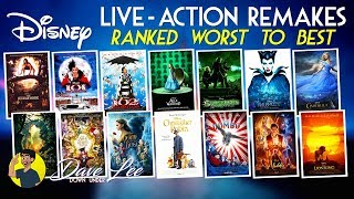 DISNEY LIVE-ACTION REMAKES - All 14 Movies Ranked Worst to Best (Including THE LION KING)