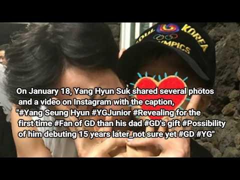Yang Hyun Suk reveals his son Yang Seung Hyun for the first time