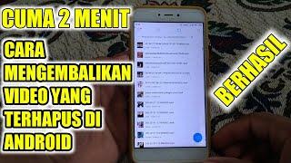 CARA MENGEMBALIKAN VIDEO YANG TERHAPUS DI ANDROID!!.