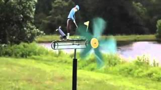 Metal Golfer Whirligig - Wind & Weather