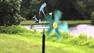 Metal Golfer Whirligig - Wind & Weather