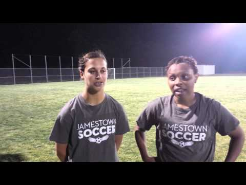 Post game interview with Jamestown's Paige Majdic and Aaliyah Lyttle