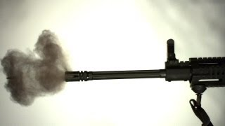AR-15 Fluted Barrel Flex Slow Motion Vibrations High-Speed Camera 2 Aimed Research
