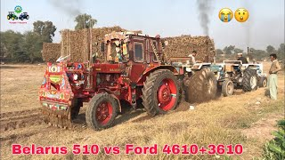 Tractor Tochan | Belarus 510 vs Ford 4610+Ford 3610 | Punjab Tractors