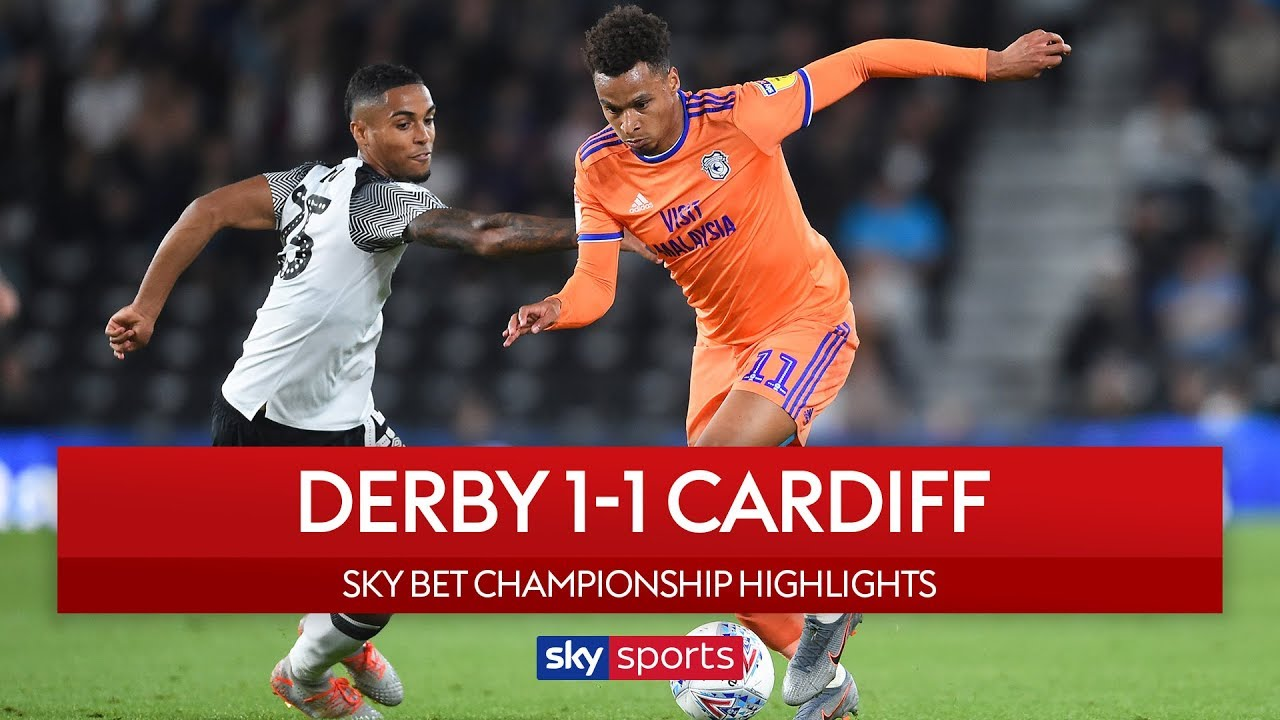 Bluebirds cancel out the Rams at Pride Park | Derby 1-1 Cardiff | EFL Championship | Highlights