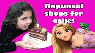PRINCESS RAPUNZEL SHOPS FOR CHOCOLATE CAKE!!!