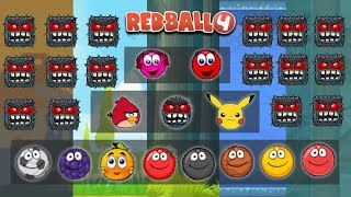 ANGRY BIRD, PIKA, BOSS, 2 RED BALL 3 & ALL CLASSIC BALLS in RED BALL 4