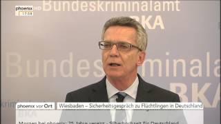 Sicherheitsgespräch zu Flüchtlingen: PK von de Maizière und Münch am 02.10.2015