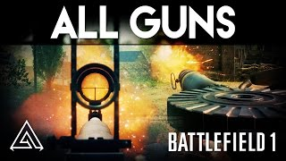 Battlefield 1 All Guns Gameplay